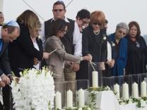 Gedenkfeier fuer die Opfer des Attentates auf die israelische Olympiamannschaft 1972