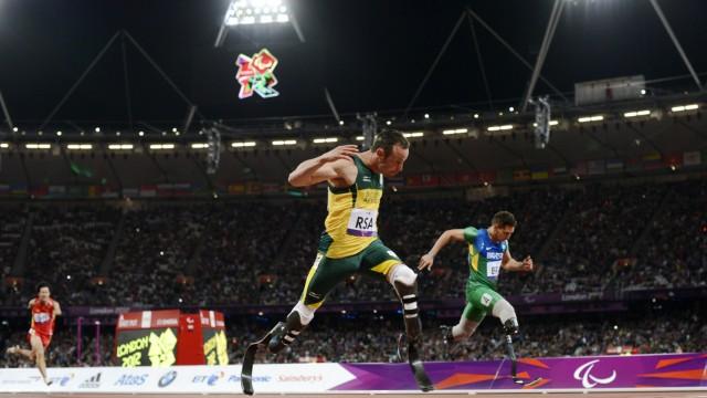 Oscar Pistorius bei seinem Weltrekord-Lauf