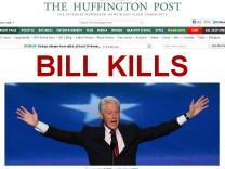 Schlagzeile der Huffington Post zum Auftritt von Bill Clinton