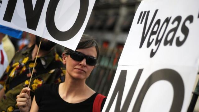 Spanien, Proteste gegen das Bauprojekt Euro-Vegas bei Madrid