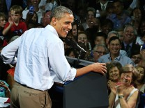 President Obama Campaigns In Florida For Two-Day Swing