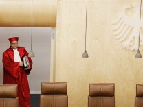 File photo of President of the German Constitutional Court Vosskuhle arriving for a hearing  in Karlsruhe