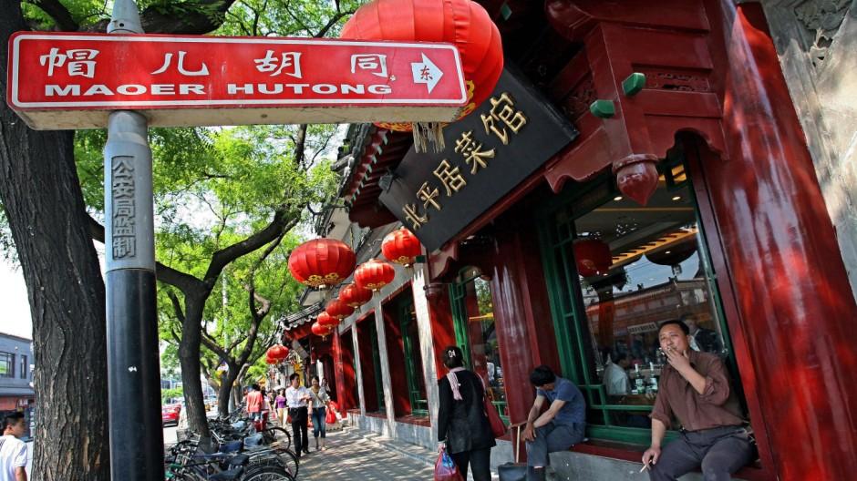 Peking China Hutong Gassen Wohnhöfe Alltag