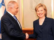 Clinton; Netanjahu; dpa