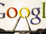 Google-Logo und Laptops