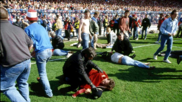 Fußball Stadionkatastrophe in England