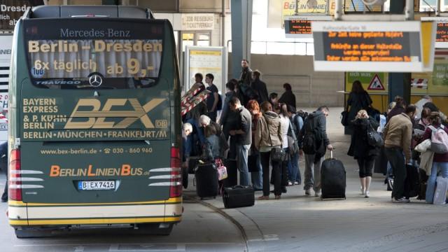 Fernbus, Bus, Busreise, Bahn, Deutsche Bahn