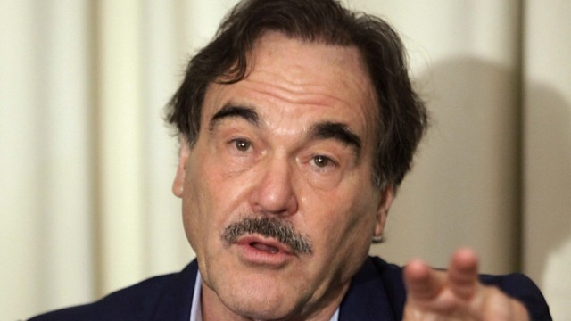 U.S. filmmaker Oliver Stone attends a news conference about his film 'South of the Border' in Quito