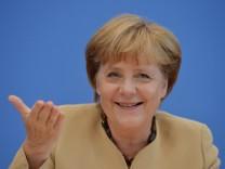 Bundeskanzlerin Angela Merkel in der Bundespressekonferenz