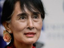 Nobel Peace Prize Winner Aung San Suu Kyi Speaks At The U.S. Institute of Peace