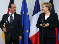 Merkel And Hollande Meet On De Gaulle Speech Anniversary
