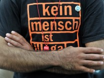 Flüchtlingsmarsch passiert Leipzig