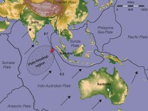 Indo-Australische Kontinentalplatte bricht auseinander