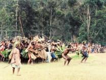 Krieger auf Papua-Neuguinea