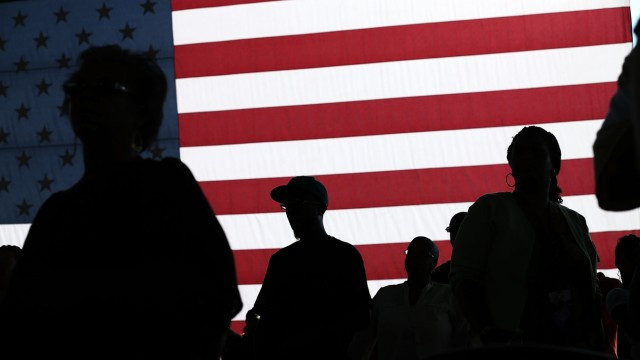 Zuhörer bei einem Auftritt von Obama