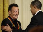 Bruce Springsteen und Obama; AP