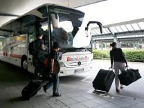 Fernbus, Reise, Bus, Bahn