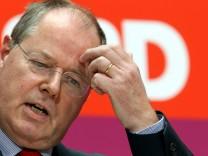 SPD-Parteivorstandssitzung Pressekonferenz Steinbrück