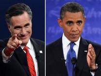 Mitt Romney und Barack Obama im TV-Duell