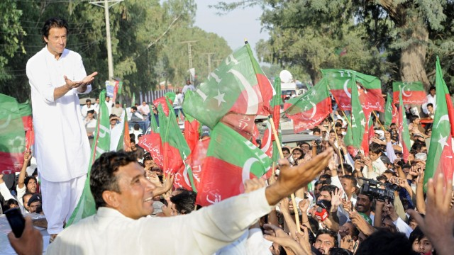 Imran Khan leads rally to South-Waziristan