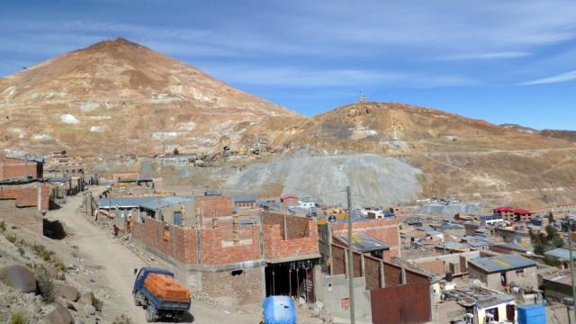 Südamerika Bolivien Potosi Bolivien Cerro Rico Silbermine