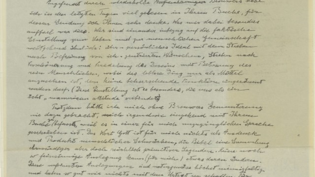 Der Brief Albert Einsteins an Eric Gutkind