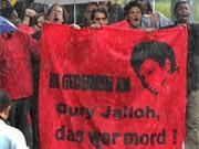 Protestanten, Oury Jalloh, dpa