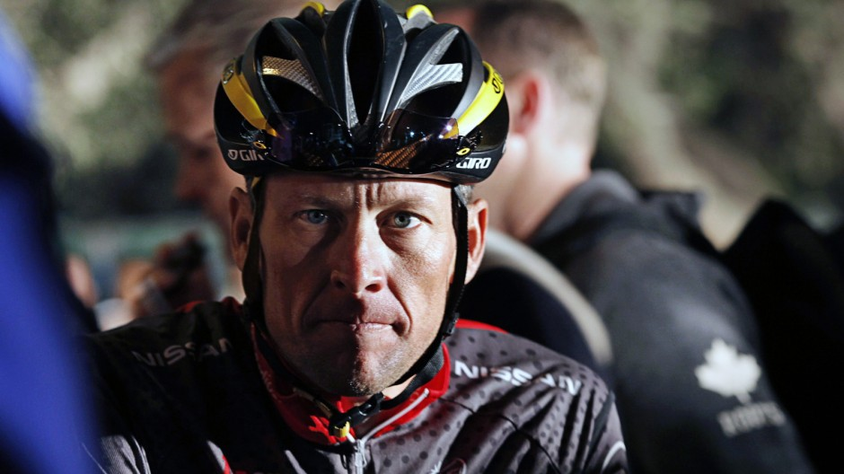 File picture shows seven-time Tour de France winner Lance Armstrong awaiting the start of the 2010 Cape Argus Cycle Tour in Cape Town