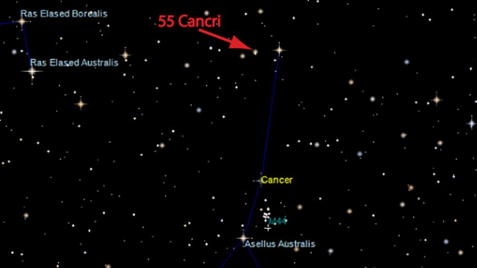 55 Cancri im Sternbild Krebs