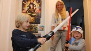 Star Wars Kinder im Star-Wars-Rausch
