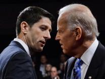 Vice presidential debate between Democrat US Vice president Joe B