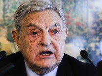 Soros Fund Management Chairman George Soros speaks during a news conference at the World Economic Forum in Davos