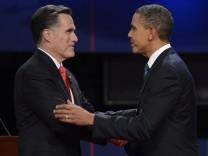US-Wahlkampf TV-Debatte Barack Oama - Mitt Romney