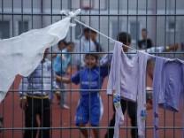 Fluechtlingseinrichtung in Zirndorf ist ueberfuellt
