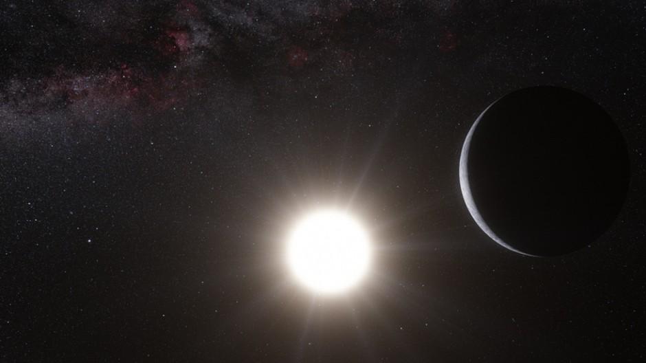 So stellen sich Wissenschaftler die Verhältnisse im System Alpha Centauri vor. Sie haben dort jetzt Hinweise auf einen Exo-Planeten entdeckt. Es ist der bislang nächste Panet außerhalb unseres Sonnens