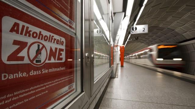 Alkoholkonsumverbot auf dem Nuernberger Hauptbahnhof