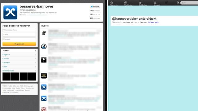 Twitter blendet Nachrichten von Neonazis aus Hannover aus