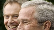 Bush, Blair, Irak, AFP