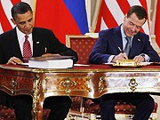 Obama Medwedjew Atomare Abruestung, Reuters