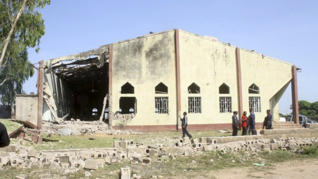 A view shows St. Rita's Catholic church in the Malali village, after a bomb attack, in Nigeria's northern city of Kaduna
