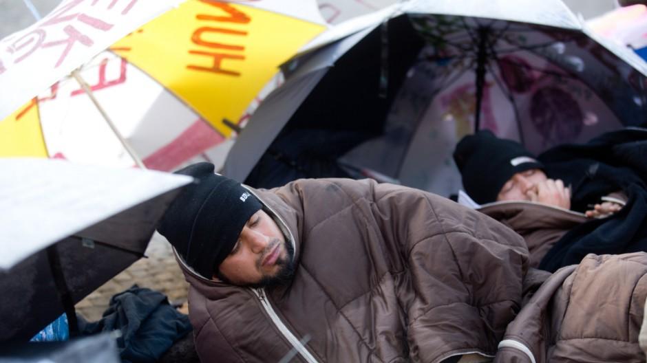 Flüchtlinge im Hungerstreik Berlin