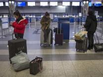 Hurrikan Sandy Passagier Flughafen Luftverkehr
