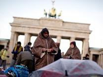 Flüchtlinge im Hungerstreik