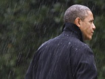 Barack Obama im Sturm Sandy