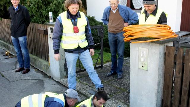 Freising Glasfaserkabel Mitten in Freising