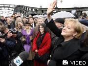 Mauerfall Berlin Angela Merkel, dpa