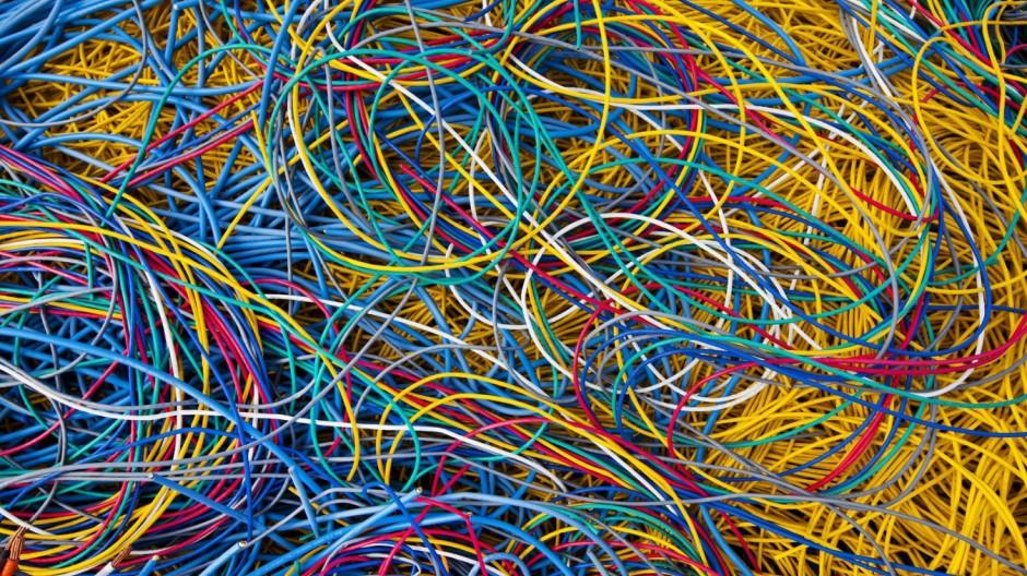 Kabelsalat im Google Datencenter