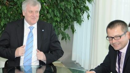 2008 noch in der Rolle des Journalisten: Jürgen Fischer (rechts) interviewt Horst Seehofer.