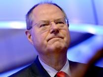 Steinbrück hält Vortrag in Hamburg