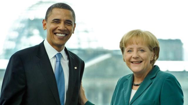 Chancellor Merkel Meets With Barack Obama